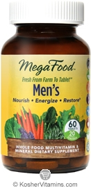 MegaFood Kosher Men's Whole Food Multivitamin & Mineral 60 Tablets