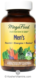 MegaFood Kosher Men's Whole Food Multivitamin & Mineral 90 Tablets