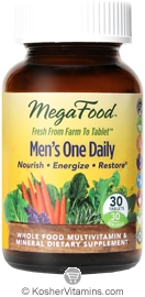 MegaFood Kosher Men's One Daily Whole Food Multivitamin & Mineral 30 Tablets