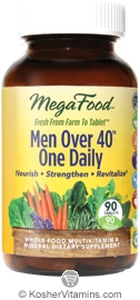 MegaFood Kosher Men Over 40 One Daily Whole Food Multivitamin & Mineral 90 Tablets