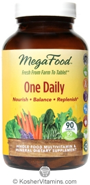 MegaFood Kosher One Daily Whole Food Multivitamin & Mineral 90 Tablets