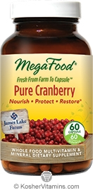 MegaFood Pure Cranberry with James Lake Farms Cranberry 60 Capsules