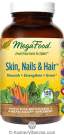 MegaFood Kosher Skin, Nails, & Hair California Blend 180 Tablets
