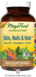 MegaFood Kosher Skin, Nails, & Hair California Blend 90 Tablets