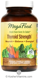MegaFood Kosher Thyroid Strength 60 Tablets