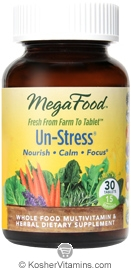 MegaFood Kosher Un-Stress 30 Tablets