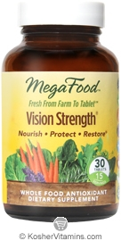 MegaFood Kosher Vision Strength  30 Tablets
