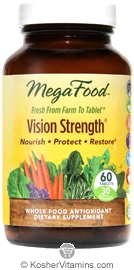 MegaFood Kosher Vision Strength  60 Tablets