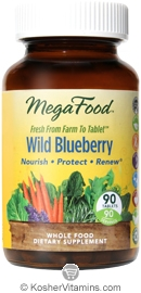 MegaFood Kosher Wild Blueberry 90 Tablets