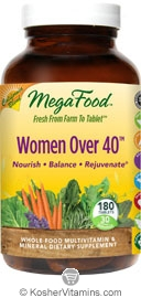 MegaFood Women Over 40 California Blend Whole Food Multivitamin & Mineral Vegetarian Suitable Not Certified Kosher  180 Tablets