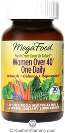 MegaFood Kosher Women Over 40 One Daily Whole Food Multivitamin & Mineral 30 Tablets