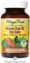 MegaFood Kosher Women Over 40 One Daily Whole Food Multivitamin & Mineral 60 Tablets