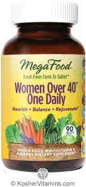 MegaFood Kosher Women Over 40 One Daily Whole Food Multivitamin & Mineral 90 Tablets