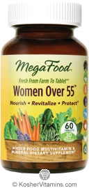 MegaFood Kosher Women Over 55 Whole Food Multivitamin & Mineral 60 Tablets