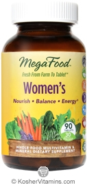 MegaFood Kosher Women's Whole Food Multivitamin & Mineral  90 Tablets