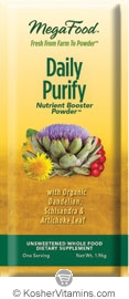 MegaFood Kosher Daily Purify Booster Powder (with Dandelion, Schisandra Berry & Artichoke Leaf) Free with a $49 Purchase 1 Packet
