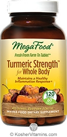 MegaFood Turmeric Strength for Whole Body Vegan Suitable Not Certified Kosher  120 Tablets