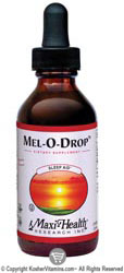 Maxi Health Kosher Mel-O-Drop Melatonin Liquid Vanilla & Raspberry Flavor 2 OZ