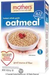 Mother's Kosher All Natural Instant Whole Grain Oatmeal 11 OZ