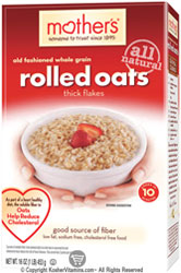 Mother's Kosher All Natural Old Fashioned Whole Grain Rolled Oats Thick Flakes 16 OZ