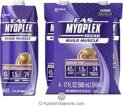 EAS Kosher Myoplex Original Ready to Drink Chocolate Fudge Dairy Case of 12 17 Oz