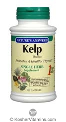 Natures Answer Kosher Kelp Thallus 100 Capsules