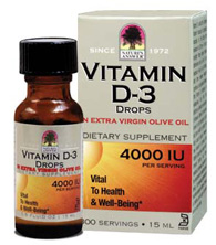 Natures Answer Kosher Vitamin D3 Drops 4,000 IU Liquid 0.5 OZ