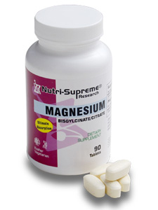 Nutri-Supreme Research Kosher Magnesium Citrate/Bisglycinate  BUY 1 GET 1 FREE  180 Tablets