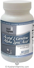 Nutri-Supreme Research Kosher Acetyl L-Carnitine Alpha Lipoic Acid 60 Vegetarian Capsules