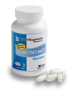 Nutri-Supreme Research Kosher Calcium Citrate Malate with Vitamin D3  BUY 1 GET 1 FREE  180 Tablets