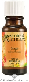 Nature's Alchemy 100% Pure Essential Oil Sage 0.5 OZ