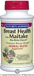 Natures Answer Kosher Breast Health with Maitake Bio-Beta Glucan 90 Vegetarian Capsules