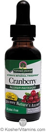 Natures Answer Kosher Cranberry 1,500 Mg Alcohol Free 1 OZ