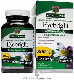 Natures Answer Kosher Eyebright 800 Mg 90 Vegetarian Capsules
