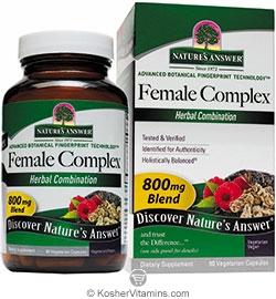 Natures Answer Kosher Female Complex 800 Mg Blend 90 Vegetarian Capsules