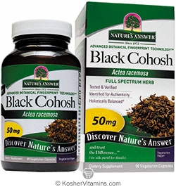 Natures Answer Kosher Black Cohosh 50 Mg 90 Vegetarian Capsules