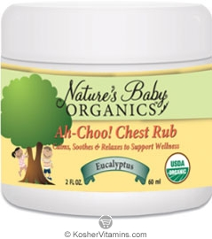 Nature's Baby Organics Kosher Ah-Choo! Chest Rub 2 OZ