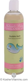 Nature's Baby Organics Kosher Bubble Bath Lovely Lavender 12 OZ