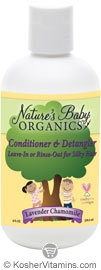 Nature's Baby Organics Kosher Conditioner & Detangler Lavender Chamomile 8 OZ