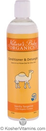 Nature's Baby Organics Kosher Conditioner & Detangler Vanilla Tangerine 12 OZ