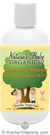 Nature's Baby Organics Kosher Conditioner & Detangler Vanilla Tangerine 16 OZ