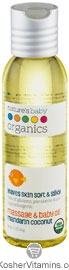 Nature's Baby Organics Baby Oil Mandarin Coconut 4 OZ