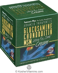 Nature`s Plus Glucosamine Chondroitin MSM Ultra Rx-Joint Cream 4 OZ