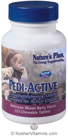 Nature`s Plus Pedi-Active Chewables Vegetarian Suitable Not Certified Kosher 120 Chewables