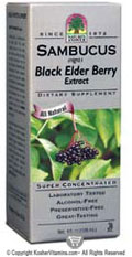 Natures Answer Kosher Sambucus-Black Elder Berry Extract Alcohol Free Super Concentrated 8 Oz.