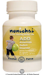 NoniChai Kosher ADD (Attention Deficit Disorder)   30 Capsules