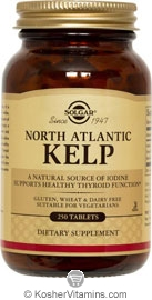 Solgar Kosher North Atlantic Kelp 250 Tablets