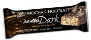 NuGo Nutrition Kosher Dark 10g Protein Bar Mocha Chocolate Parve 12 Bars