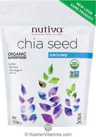 Nutiva Kosher Organic Ground Chia Seed 12 OZ