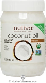 Nutiva Kosher Organic Virgin Coconut Oil 15 OZ